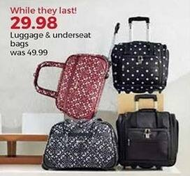 Stein Mart Black Friday: Luggage and Underseat Bags for $29.98