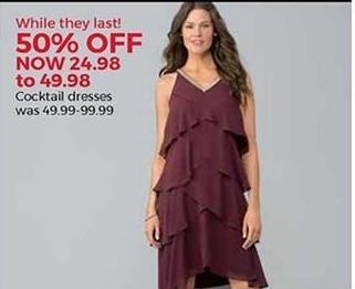 Stein Mart Black Friday: Cocktail Dresses - 50% Off