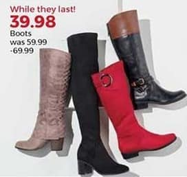 Stein Mart Black Friday: Women's Boots, Select Styles for $39.98