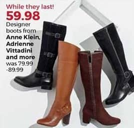 Stein Mart Black Friday: Anne Klein, Adrienne Vittadini & More Women's Designer Boots for $59.98