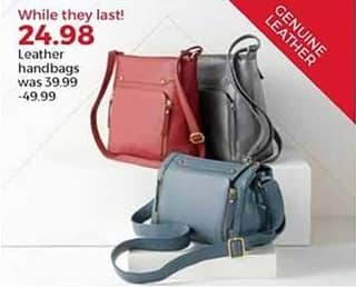 Stein Mart Black Friday: Leather Handbags for $24.98