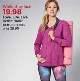 Stein Mart Black Friday: Love. Life. Live. Women's Active Sets for $19.98
