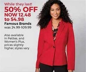 Stein Mart Black Friday: Famous Brands Select Women's Apparel - 50% Off