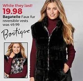b0783fa8755 Stein Mart Black Friday  Bagatelle Women s Faux Fur Reversible Vest for   19.98