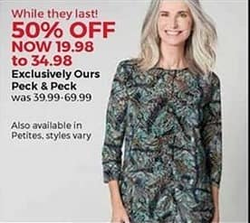 Stein Mart Black Friday: Peck & Peck Women's Apparel for $19.98 - $34.98