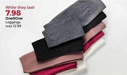 Stein Mart Black Friday: One5One Women's Leggings for $7.98