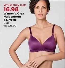 Stein Mart Black Friday: Warner's, Olga, Maidenform and Lilyette Bras for $16.98