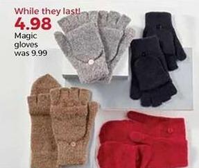 Stein Mart Black Friday: Women's Magic Gloves for $4.98