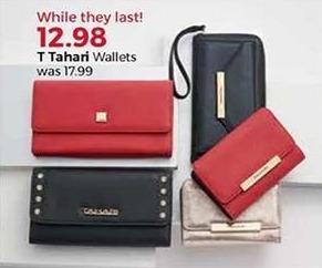 Stein Mart Black Friday: T Tahari Women's Wallets for $12.98