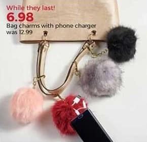 Stein Mart Black Friday: Bag Charms w/ Phone Charger for $6.98