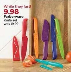 Stein Mart Black Friday: Farberware Knife Set for $9.98