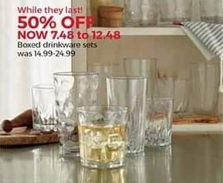 Stein Mart Black Friday: Boxed Drinkware Sets for $7.48 - $12.48