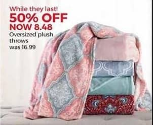 Stein Mart Black Friday: Oversized Plush Throws for $8.48