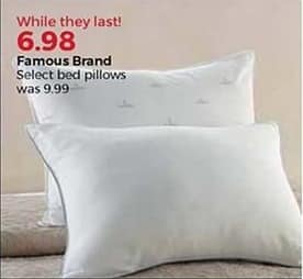 Stein Mart Black Friday: Famous Brand Bed Pillows, Select Styles for $6.98