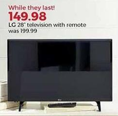 "Stein Mart Black Friday: 28"" LG TV w/ Remote for $149.98"