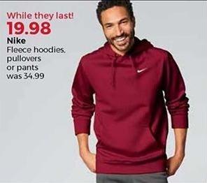 Stein Mart Black Friday: Nike Men's Fleece Hoodies, Pullovers or Pants for $19.98