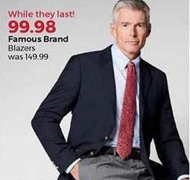 Stein Mart Black Friday: Famous Brand Men's Blazers for $99.98