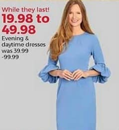 Stein Mart Black Friday: Women's Evening and Daytime Dresses for $19.98 - $49.98