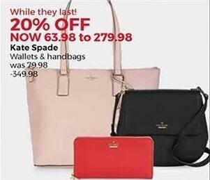 Stein Mart Black Friday: Kate Spade Wallets and Handbags - 20% Off