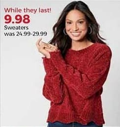 Stein Mart Black Friday: Women's Sweaters for $9.98