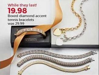 Stein Mart Black Friday: Boxed Diamond Accent Tennis Bracelets for $19.98