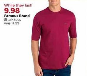 Stein Mart Black Friday: Famous Brand Men's Shark Tees for $9.98