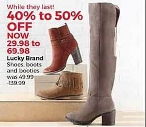 Stein Mart Black Friday: Lucky Brand Women's Shoes, Boots and Booties for $29.98 - $69.98