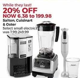 Stein Mart Black Friday: Select Salton, Cuisinart and Oster Small Electrics - 20% Off