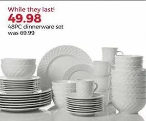 Stein Mart Black Friday: 48-pc Dinnerware Set for $49.98