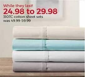Stein Mart Black Friday: 310-Thread Count Cotton Sheet Sets for $24.98 - $29.98