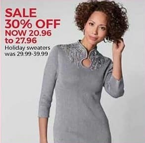 Stein Mart Black Friday: Women's Holiday Sweaters for $20.96 - $27.96