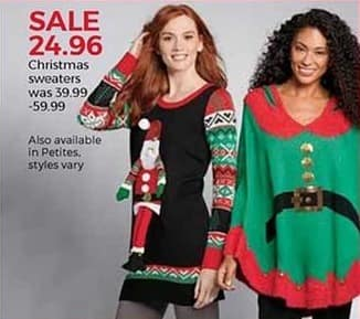 Stein Mart Black Friday: Women's Christmas Sweaters for $24.96