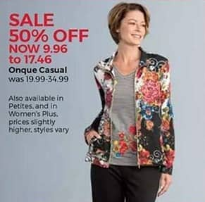 Stein Mart Black Friday: Onque Casual Women's Apparel for $9.96 - $17.46
