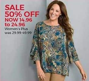 Stein Mart Black Friday: Women's Plus Apparel - 50% Off