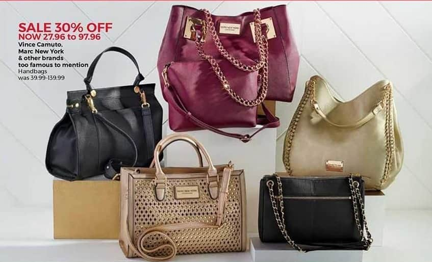 Stein Mart Black Friday Vince Camuto Marc New York And Other Famous Brand Handbags