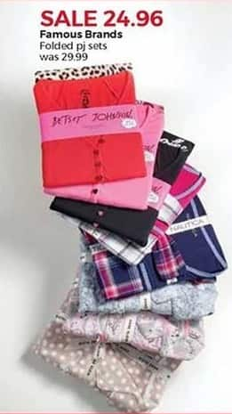 Stein Mart Black Friday: Famous Brands Women's Folded PJ Sets for $24.96