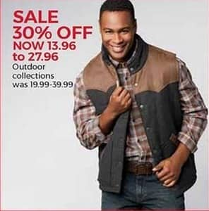 Stein Mart Black Friday: Men's Outdoor Collections for $13.96 - $27.96