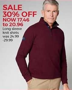 Stein Mart Black Friday: Men's Long Sleeve Knit Shirts for $17.46 - $20.96