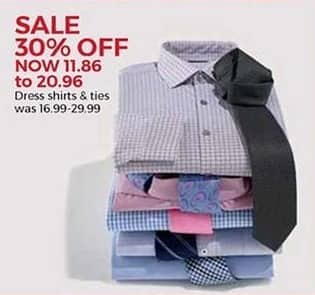 Stein Mart Black Friday: Men's Dress Shirts and Ties for $11.86 - $20.96