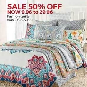 Stein Mart Black Friday: Fashion Quilts for $9.96 - $29.96