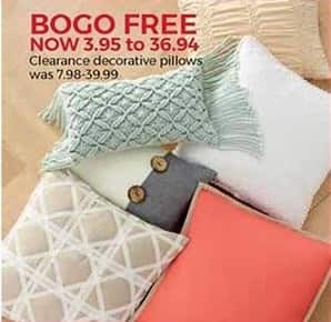 Stein Mart Black Friday: Clearance Decorative Pillows - B1G1 Free