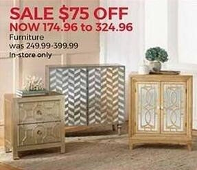 Stein Mart Black Friday: Select Furniture - $75 Off