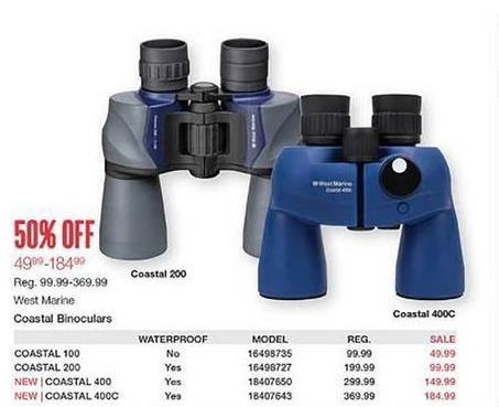 West Marine Black Friday: West Marine Coastal 100 Binoculars for $49.99