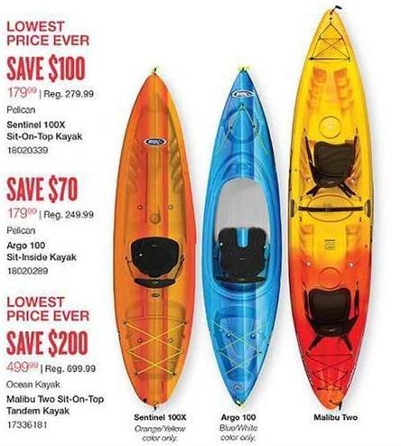 West Marine Black Friday: Pelican Argo 100 Sit-Inside Kayak for $179.99
