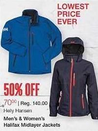 West Marine Black Friday: Helly Hansen Men's and Women's Halifax Midlayer Jackets for $70.00