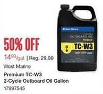 West Marine Black Friday: West Marine Premium TC-W3 2-Cycle Outboard Oil Gallon for $14.99