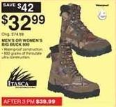 Dunhams Sports Black Friday: Itasca Men's or Women's Big Buck 800 Boots for $32.99