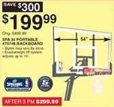 Dunhams Sports Black Friday: Spalding SFA 54 Backboard for $199.99