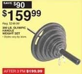 Dunhams Sports Black Friday: 300-lb Olympic Weight Set for $159.99