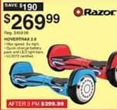 Dunhams Sports Black Friday: Razor Hovertrax 2.0 Self Balancing Scooter for $269.99
